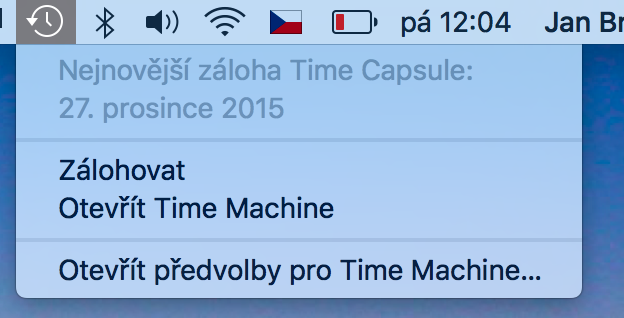 Záloha Time Machine